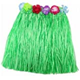 Partysanthe hawaiian skirt green/Decorative Floral Hawaiian Skirt, Red/Plastic Fibers Kid Grass Skirts Hula Skirt Hawaiian costumes Girl Dress