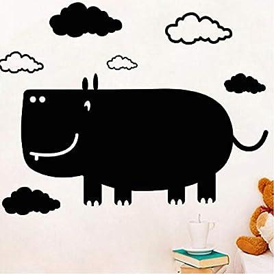 ShopSquare64 Kreativer Karikatur-Nashorn-Tafel-Wand-Stock für Raum-Wand-Aufkleber-Wand des Kindes DIY von ShopSquare64 - Gartenmöbel von Du und Dein Garten