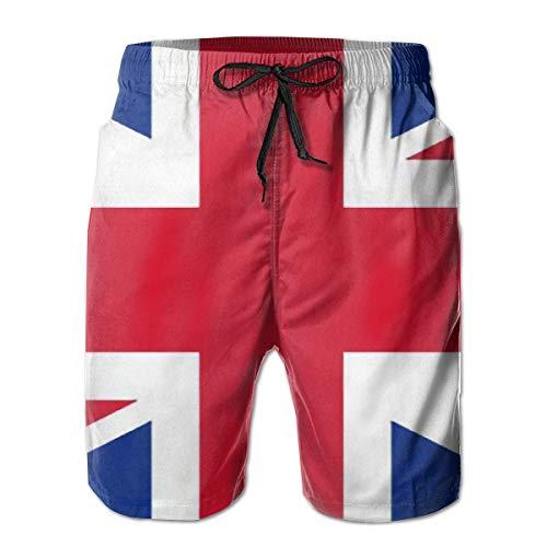 Bensontop Herren Shorts England Großbritannien British Flag Badehose Quick Dry Board Shorts Sommer Badehose für Sport L