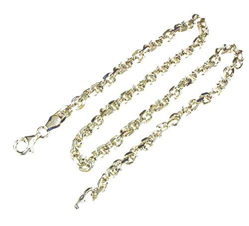 Ankerkette massiv 925 Silber 5,5 mm breit, 42 cm Halskette Silberkette Herren-Kette Anhängerkette Damen Geschenk Schmuck ab Fabrik Italien tendenze D-FD150-42