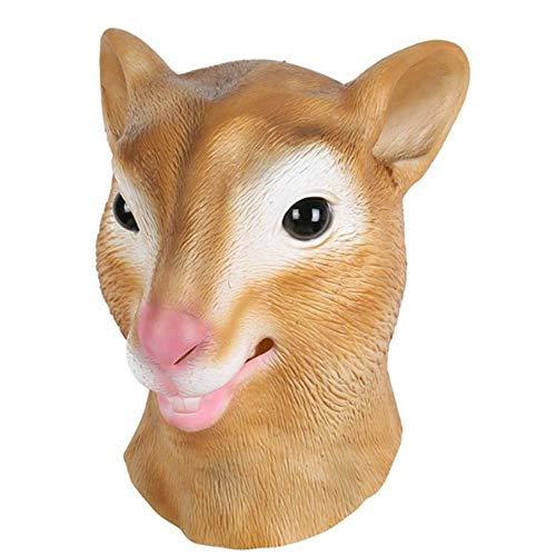 Tierkopf Maske Latex Deluxe Für Halloween Kostüm Party Eichhörnchen Weibliche Kuh Party Cosplay Zubehör