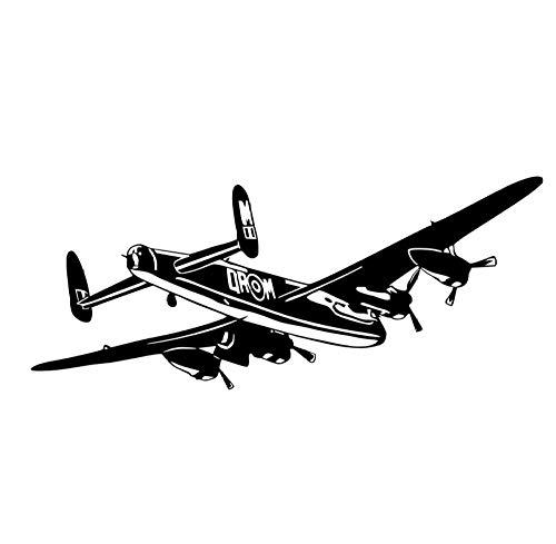 Wandaufkleber Flugzeug vinyl wandaufkleber bomber abnehmbare kunstwand wohnzimmer dekoration zubehör 140 * 58 cm - Geprüft Bomber