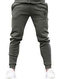 Eto Mens Slim Fit Joggers Cuffed Fleece Tracksuit Pants Sweat Jogging Bottoms