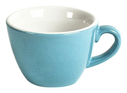 ACME ACL-081 Flat Cup, 150 mL, Blue/White (Pack of 6)