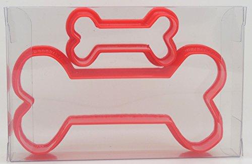 Set mit 2 Hundeknochen-Ausstechformen für Kekse, Gebäck, Fondant