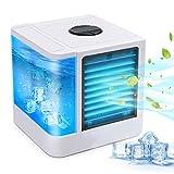 GEEK UP Climatiseurs Portables Refroidisseur D'air Usb Mini-Climatiseur/Humidificateur/Purificateur De Bureau 3-En-1 Avec Réservoir D'eau Indépendant Convient à La Maison Au Bureau Etc