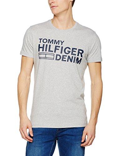 Hilfiger Denim, T-Shirt Uomo Grigio (Lt Grey Htr)