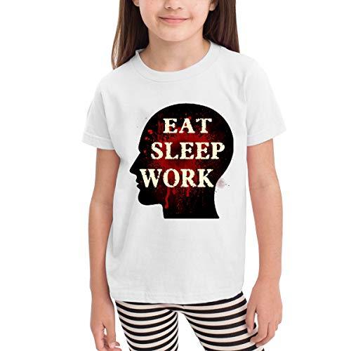 Old Navy Gingham Shirt (Eat Sleep Work-2 Jungen Mädchen Kinder Kurzarm T-Shirt Sport Baseball Tees(5/6T,Weiß))