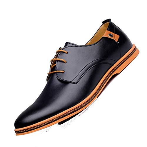 Feidaeu Herren Business Schuhe Leder Casual Wohnungen Runde Zehe Büro Plus Size Mens Dress Schuhe (Mens Alfani Dress)