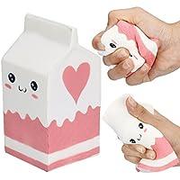 Juguetes compresivos ❤️ Amlaiworld Linda botella de yogur rosa suave Perfumado Squishy Super Slow Rising Toys Juguete Squeeze Juguete para niños