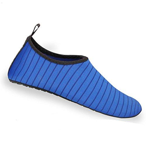 Nclon Erwachsene Rutschfeste Schnell Trocknend Wasserschuhe Aquaschuhe,Breathable Badeschuhe Schwimmschuhe Schwimmbad Surfen Schnorcheln Yoga Wassersport-Blau 40-41EU