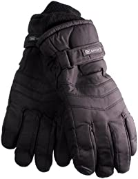 Mens Black 40g Thinsulate Insulation Lining Ski Padded Fashion Gloves Available in a Selection of Sizes