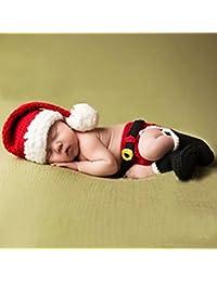 Wuiyepo Thème Bébé unisexe Noël en tricot crochet Mini Vêtements photo Prop Tenues