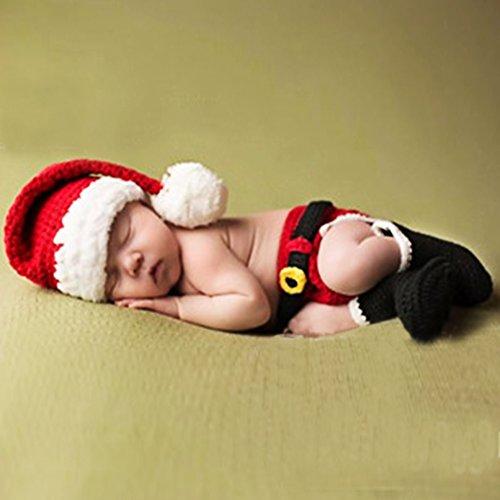 HAPPY ELEMENTS Neugeborenes Baby Weihnachtsstern Gestrickt Häkeln Fotoparty Pferd Lovely Hut Kostüme (Kleinkind Kostüm Pferd)