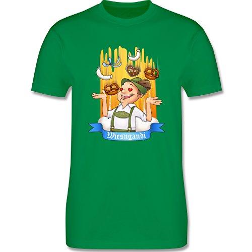 Oktoberfest Herren - Wiesngaudi - Herren Premium T-Shirt Grün