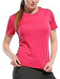 Zhuhaitf Women's Short Sleeve Tee Shirt Training Cycling Sports Tops Athletic Shirt
