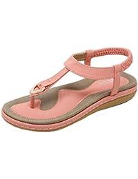 VJGOAL Damen Sandalen, Frauen Mädchen böhmischen Mode Flache beiläufige  Sandalen Strand Sommer Flache Schuhe Frau 69fb468129