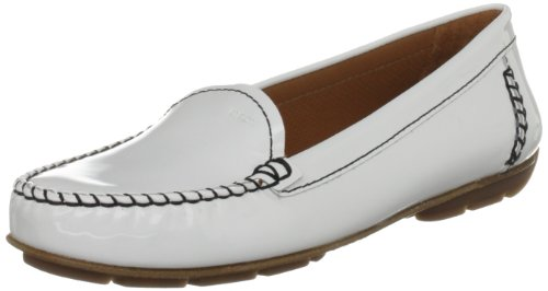 Geox D Italy G Patent, Mocassini Donna bianco (White)