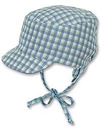f26685209624 Sterntaler Bonnet réversible avec visière, Cordons à nouer et  cache-oreilles pour garçons, Âge  12-18 Mois, Taille  49,…