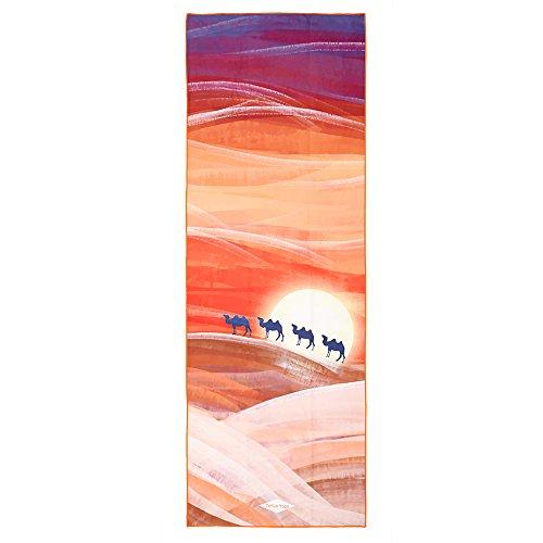 Tayun perfetto yoga asciugamano (182,9x 66cm)–sudore antiscivolo antiscivolo, 100% in microfibra, assorbente, borsa per trasporto, la scelta migliore per hot yoga, bikram, pilates, fitness, Desert Camel