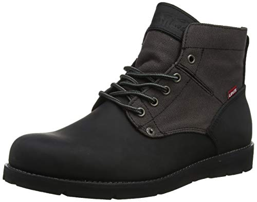 LEVIS FOOTWEAR AND ACCESSORIES Jax Botas Desert Hombre, Negro B Black/Brown 60, 41 EU 7.5 UK