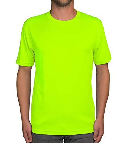 Shirtdepartment Herren Sport-Shirt (neon, M)