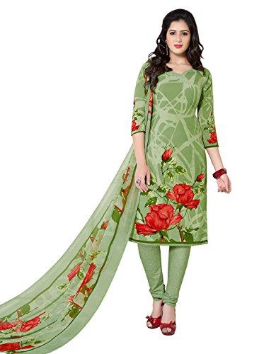 varsha Unstitched synthetic leon Salwar/Churidar/Patiala Dress Material with Dupatta