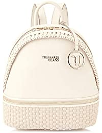 Trussardi Jeans Mimosa Backpack Ooth, Sac à dos Femme, 27.5x22x13 centimeters (W x H x L)