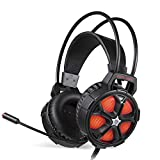 XuBa Gaming Over-Ear Headset Headphone with Microphone Bass Earphone for PC PS4 Mobile Phone Xbox One Orange