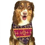 Hipiyoled Pet Bandanas National Style Adjustbable Collars Pet Bandana Bibs for Puppy Cats