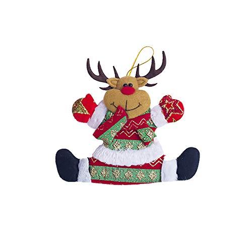 Homeofying di babbo natale pupazzo di neve elk orso a forma di albero finestra party home decor reindeer