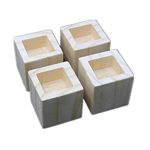 Möbel Risers Möbelerhöher Betterhöhung Möbelerhöhung Tischerhöher Elefantenfuß Bed Riser aus Holz, 4 Stück