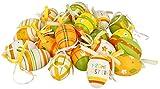 com-four® 24x handbemalte Ostereier zum Aufhängen - Osterdeko mit tollen Mustern - Deko Ostereier in verschiedenen Größen - Größe: 6 cm