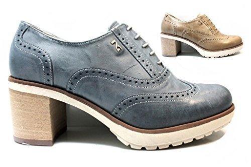 Nero Giardini P717200D Bleu Marine Chaussures à Lacets Chaussures Pour Femmes Style Anglaise Bleu Marine