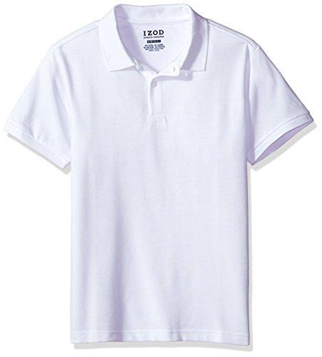 IZOD Herren Poloshirt Gr. M (US Größe), weiß (Izod-baumwolle Polo-shirt)