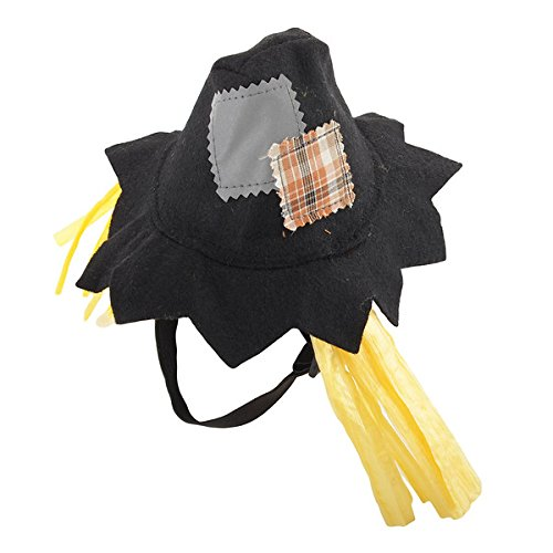 oumosi Halloween Vogelscheuche Hat Katze Hund Hat mit Seilen Pet Gap für Kostüm (Scarecrow Kostüme)