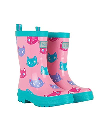 Hatley Printed Rain Boots, Work Wellingtons fille - rose - Pink (Silly Kitties), 27