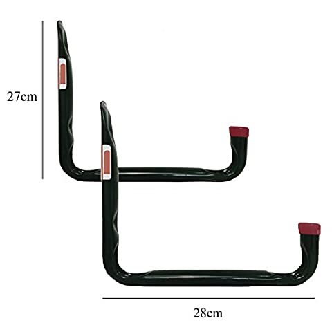 2 x Large Heavy Duty Storage Hooks Wall Mounted Ladder Bike Garage Utility Hook