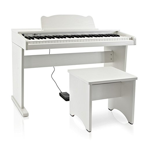 JDP-1 Pianoforte Digitale Junior Gear4music Bianco