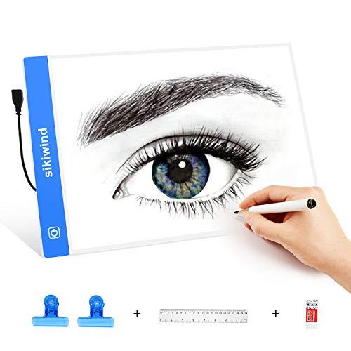 Caja de Luz LED Regulable SIKIWIND A4 Tableros de Dibujo de Seguimiento...