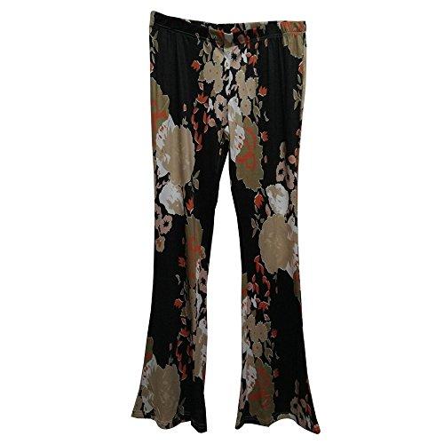 BOZEVON Donna Retro Lungo Casuale Pantaloni Larghi Vita Alta Pantaloni Flare Stile-4