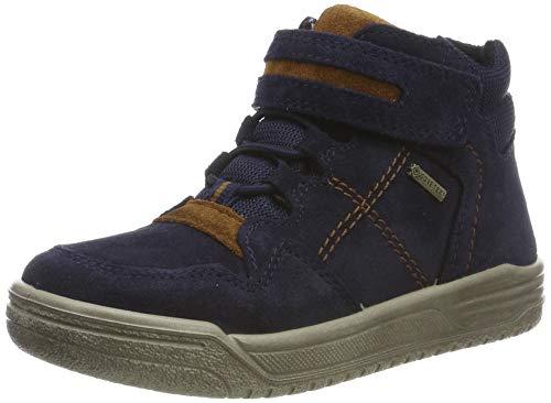 Superfit Jungen EARTH-509059 Hohe Sneaker, Blau (Blau/Braun 80), 34 EU