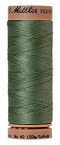 Mettler Silk-Finish 40 Weight Solid Cotton Thread, 164 yd/150m, Palm Leaf