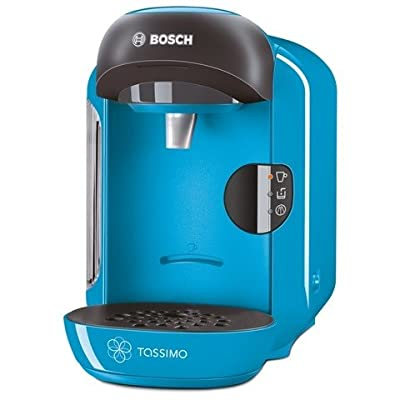Bosch TAS1255GB Tassimo Vivy II Compact Coffee Machine 1300 watts Removable 0.7 litre water tank IntellibrewTM System - Patented bar code technology identifies drink selected and adjusts amount of water brewing time and temperature Large variety of high q