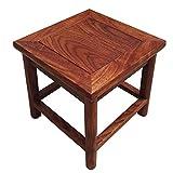 YXX- Kleine Quadratische Holz Fußhocker Fußbank Schuhbank Für Wohnzimmer Sofa Küche Holz Schritt Hocker Für Erwachsene