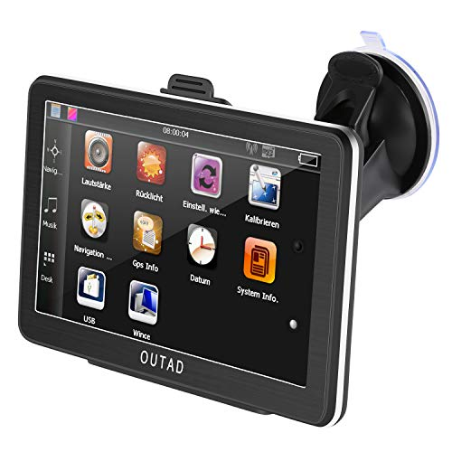 Navigationsgeräte für Auto 7 zoll TouchScreen Navi LKW PKW Wiederaufladbar 8GB Navigation Europa Maps 48 Karten mit POI Sprachführung Kartenupdate Unterstützung (einschließlich Deutsch)