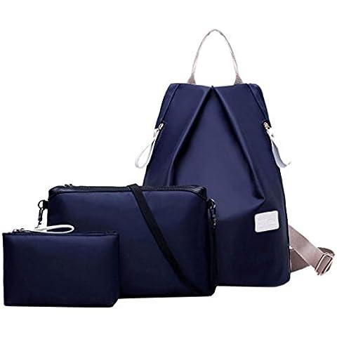 Clode® Las mujeres de moda impermeable bolso bandolera mochila y bolso de las señoras 3pcs bolso Set