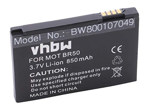 vhbw Li-Ion Akku 850mAh (3.7V) für Handy Telefon Smartphone Motorola Razr V3m, V3T, V3xx, V3Z wie 22320, BA700, SNN5696. -