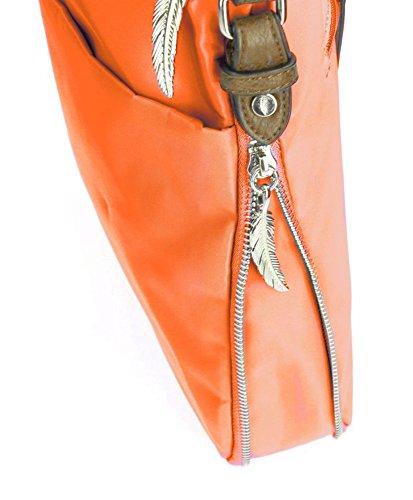 Waipuna , Borsa Messenger  beige taupe / taupe orange /orange
