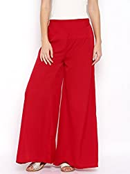 Rigoglioso Womens Relaxed Palazzo (RIGPLZRED_Red_Large)